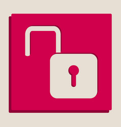 Unlock sign grayscale vector
