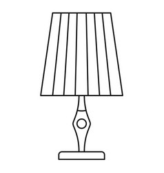 vintage table lamp icon outline style vector image