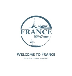Welcome to France sign vector image vector image