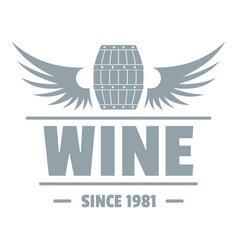 wine barrel logo simple gray style vector image