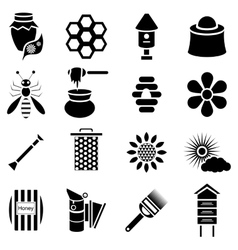Apiary icons set simple style vector