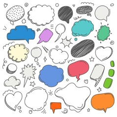 Different sketch style speech clouds collection vector