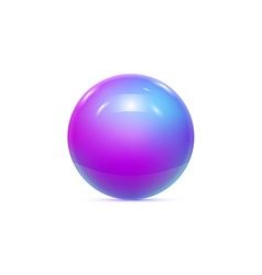 Realistic pearl ball or sphere vector