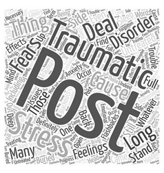 Post Word Cloud Concept vector image