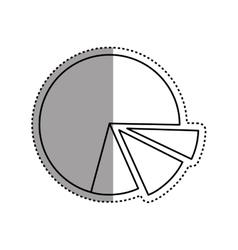 Statistics pie chart vector