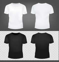 T-shirt template set vector