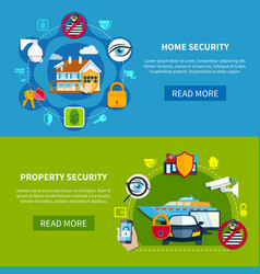 security banners set vector image