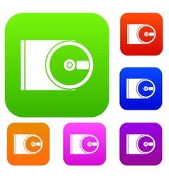 Dvd drive open set collection vector