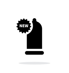 New condom icon on white background vector