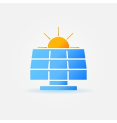 Solar panel with sun icon vector