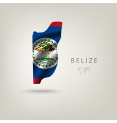 Flag of belize as a country with a shadow vector