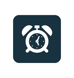 Alarm clock icon rounded squares button vector