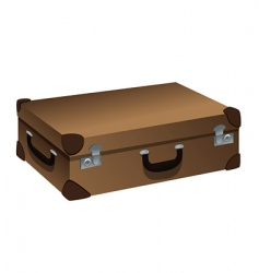 suitcase brown vector image