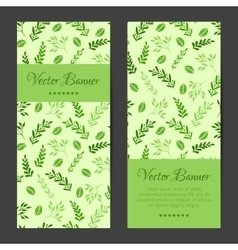 Vertical banners cards brochures set vector