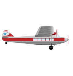 passenger airplane vector image