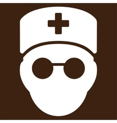 Medic head icon vector