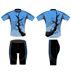 Cycling vest style vector