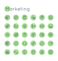 Round marketing icons vector