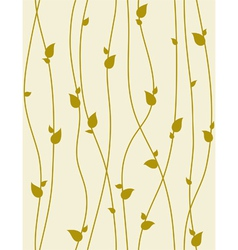 Seamless foliage pattern with spring branches vector