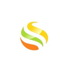 round bio round colored logo vector image