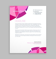 Abstract business letterhead design vector