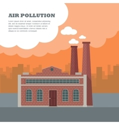 Air pollution concept vector