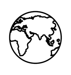 black and white world map graphic vector image