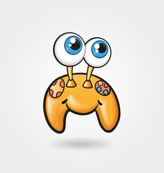 cheerful cute gamepad funny vector image