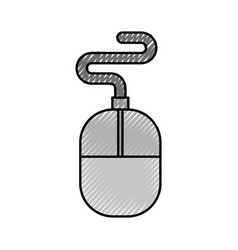 Computer accessory mouse vector