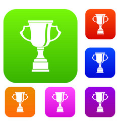 cup for win set collection vector image vector image