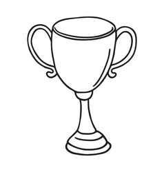 Cup icon outlined vector