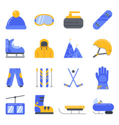 extreme winter sport ski snowboard and other vector image vector image