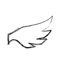 feathers wing silhouette vector image vector image