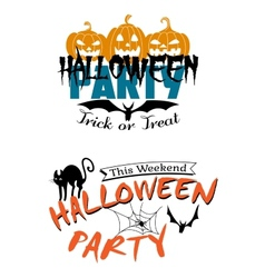 Halloween party invitation vector image