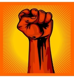 Hand Up Proletarian Revolution - Fist of vector image