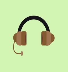 Headphone flat design graphic vector