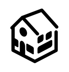 House line icon image vector
