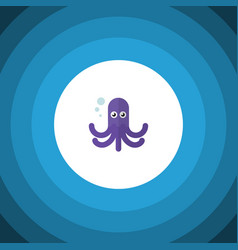 isolated octopus flat icon tentacle vector image