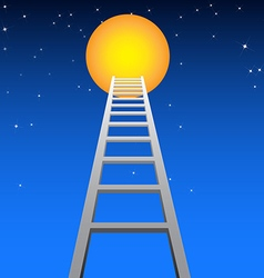 Ladder to moon vector