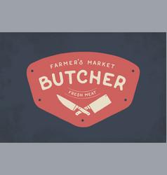 Logo of butcher meat shop vector