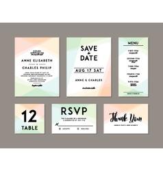Modern Wedding Set template vector image vector image