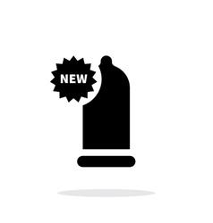 New condom icon on white background vector