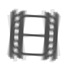 Reel of film sign gray icon shaked at vector