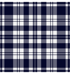 Seamless blue black tartan with stripes vector