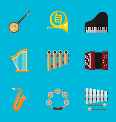 set of 9 editable media icons includes symbols vector image