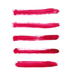 set of magenta watercolor stripe textures vector image