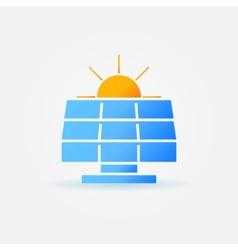Solar panel with sun icon vector