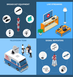 Telecommunication 2x2 icons set vector