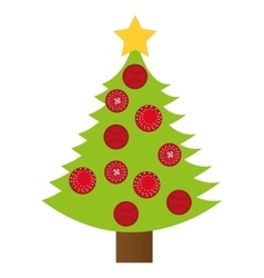 tree pine christmas icon vector image vector image