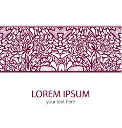 vintage lace ornament card vector image